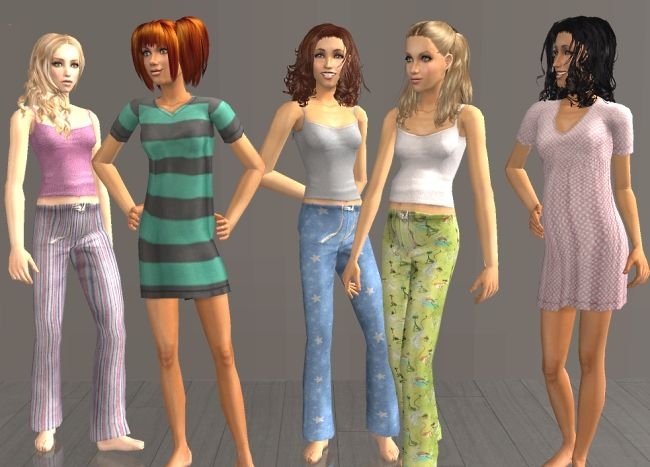 Teen Maternity PJs (2 new meshes)