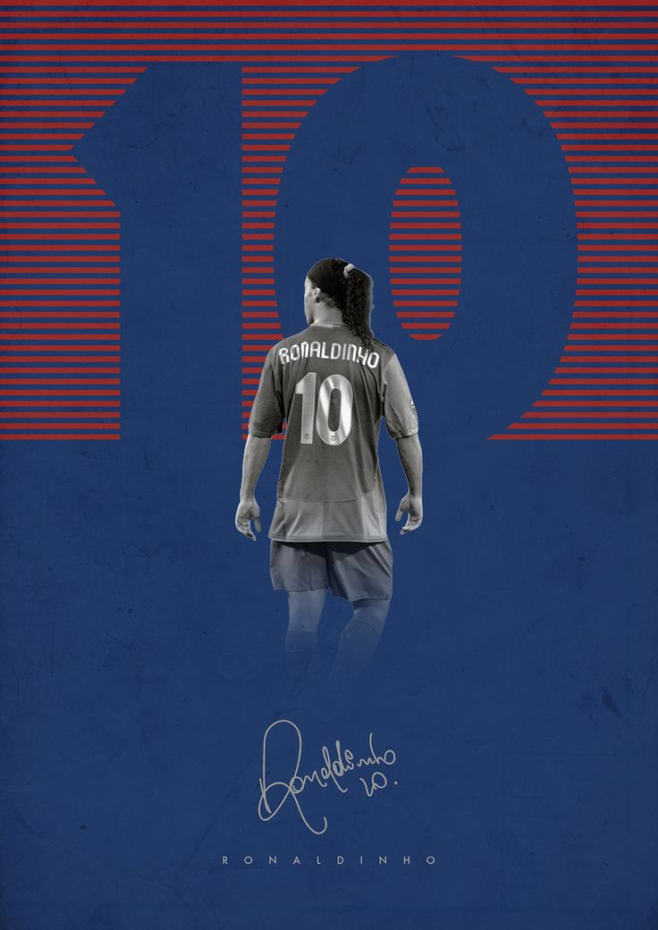 Football Legends on Behance - Ronaldinho - Barcelona
