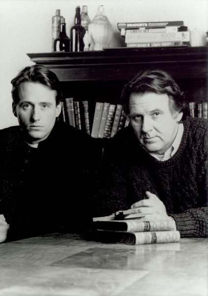 """Tom Wilkinson (Father Matthew) with Linus Roache (Father Greg) in """"Priest""""."""