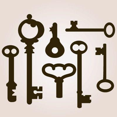 Antique Skeleton Keys SVG Collection