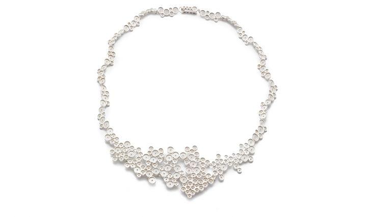 Liliana Guerreiro | Collections - Handmade silver necklace, using a filigree technique