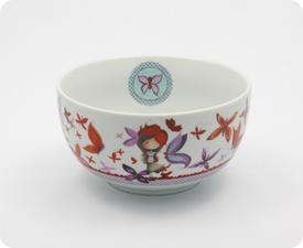 Bol Ketto en céramique - fille papillon / Ketto's ceramic bowl - butterfly girl  www.kettodesign.com