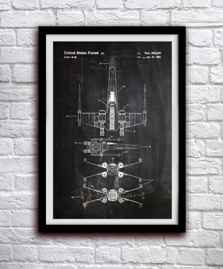 Star Wars X-wing - Action Figure Toy Decor - Patent Print Poster Wall Decor - 0128 (8.00 USD) by thepatentoffice