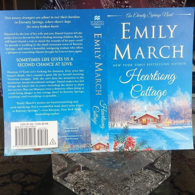 Look what just arrived! #EternitySprings #10 - HEARTSONG COTTAGE comes out Nov. 3rd! Click here to pre-order: http://www.amazon.com/Heartsong-Cottage-Emily-March/dp/1250072964/ref=sr_1_1?ie=UTF8&qid=1435687654&sr=8-1&keywords=heartsong+cottage