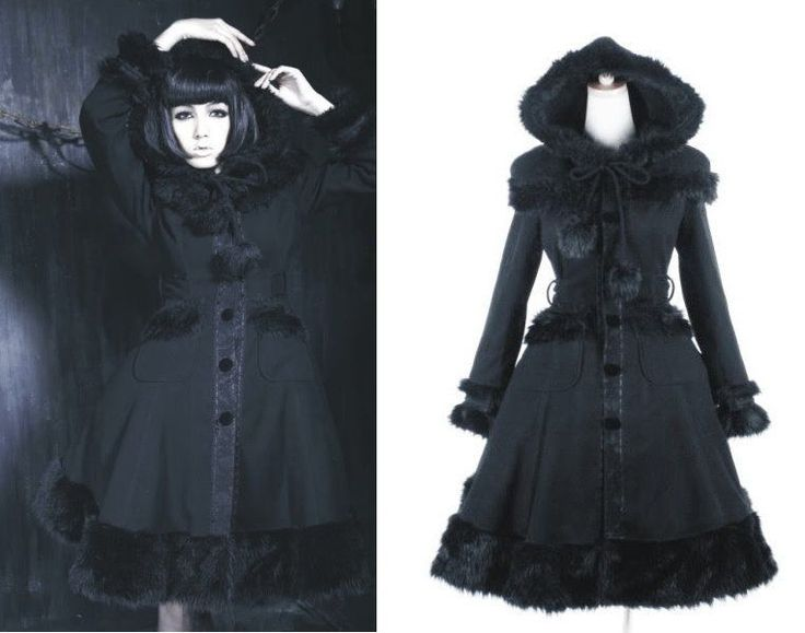 KERA Goth Lolita Visual Royal Little black riding Hood Vivian BLACK  parka coat #Ownbrand #BasicJacket