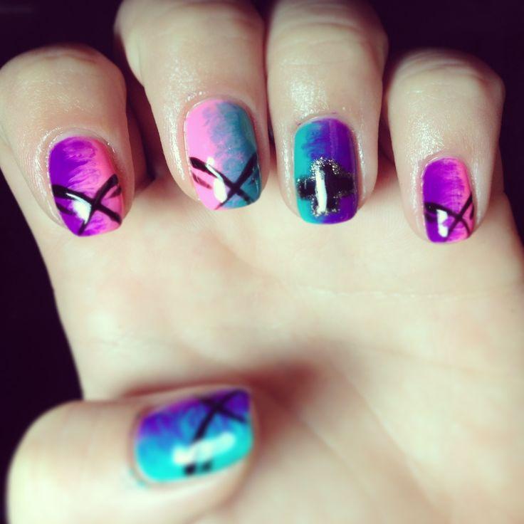 nails nail art polish design gelish shellac fade ombre