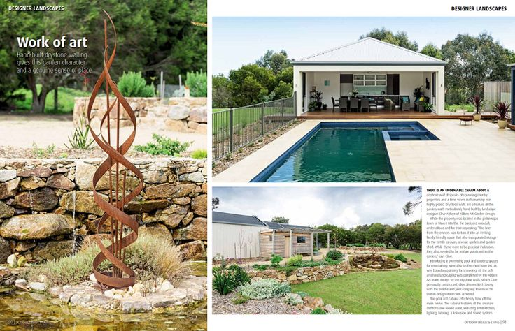 landscape designed and constructed by abben art garden design, pool and paving by east coast pools dromana.