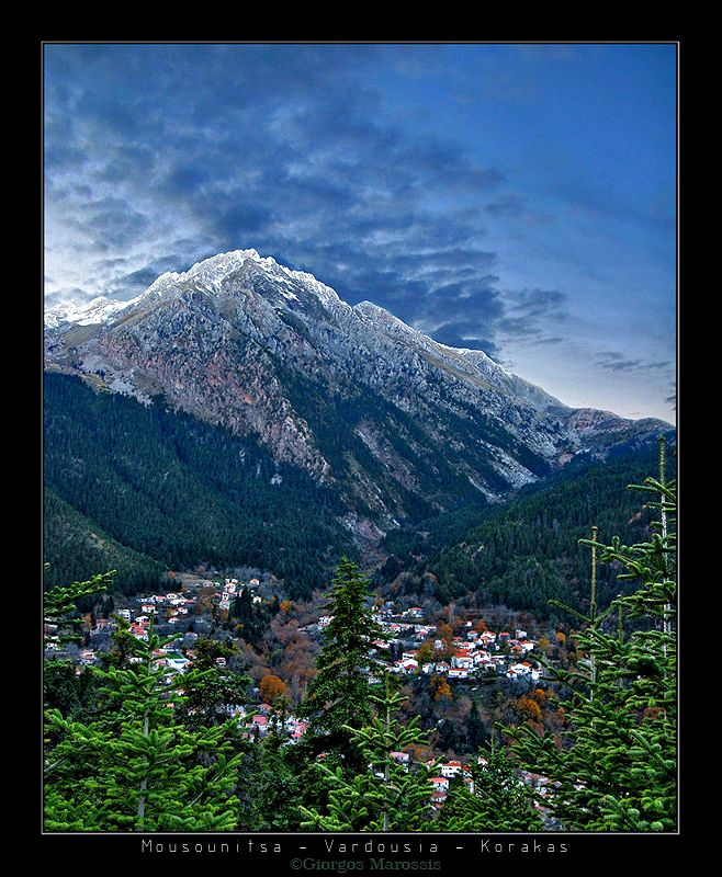 Ano Mousounitsa village is situated at de foot of de north side of Vardoussia mountains, Fokida, Central Greece_ Greece