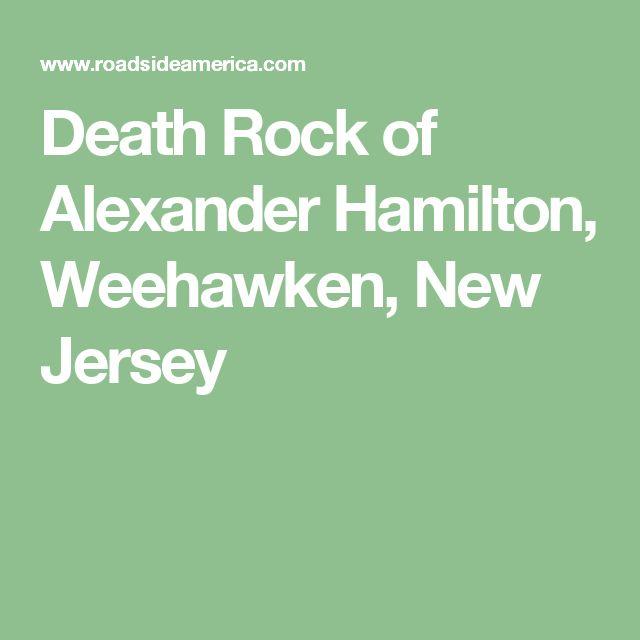 Death Rock of Alexander Hamilton, Weehawken, New Jersey