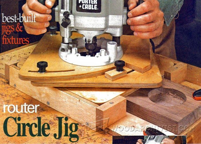 Router Circle Jig - Router Tips, Jigs and Fixtures | WoodArchivist.com