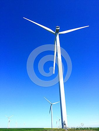 Wind energy for a clean environment on a sunny day