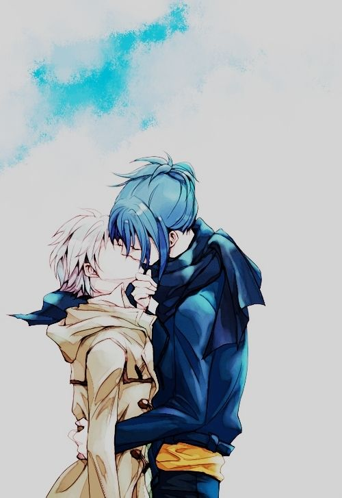 Awww.... NO.6 Nezumi and Shion, kiss