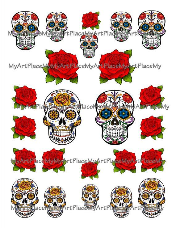 a734a0cc724f Day of the Dead Collage Sheet