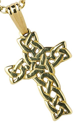 IrishJewelryOnline.com: Large Filigree Celtic Cross