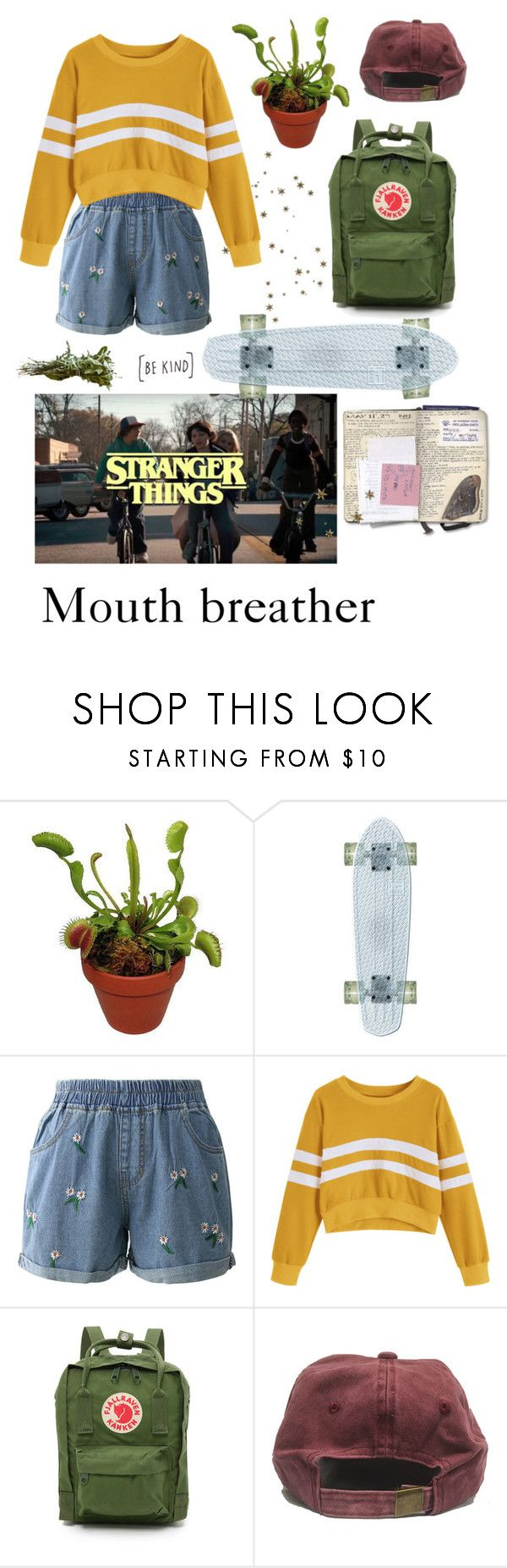 """""""Stranger things"""" by the-chaos-and-the-calm ❤ liked on Polyvore featuring Chicwish, Fjällräven and StrangerThings"""