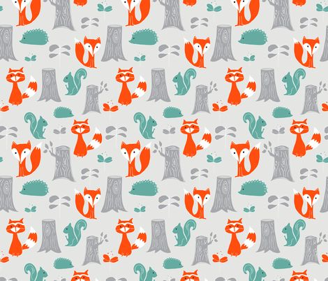 16 best fabric images on pinterest forest animals for Modern kids fabric