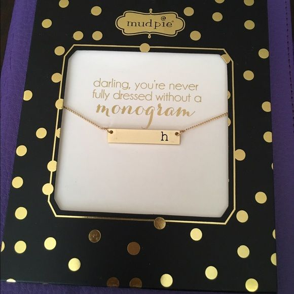 """✨ Brand New Monogram """" H"""" Necklace!! ✨ Never been open or used beautiful gold monogram necklace!! Letter H it' stunning Jewelry Necklaces"""
