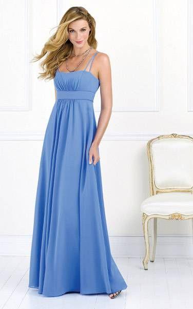 Cornflower blue bridesmaid dress