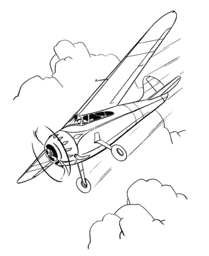 Landing Airplane Coloring Pages