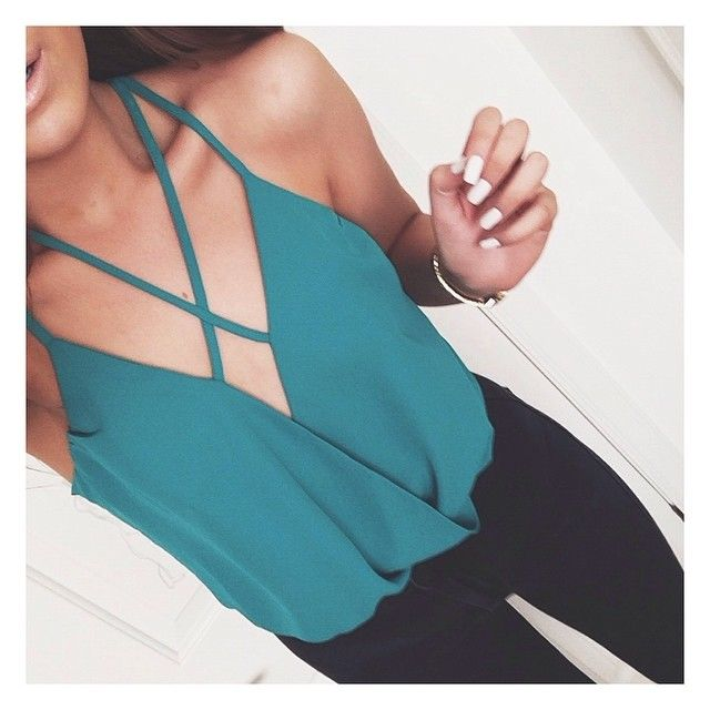 Love tops with different, sexy necklines for a night out!