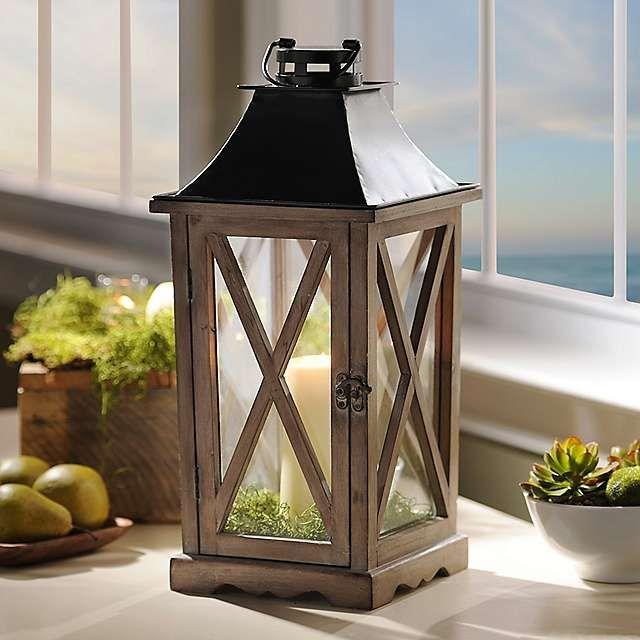 Natural Wood Lantern | Lantern centerpieces, Decor ... on Lanterns At Kirklands id=18294
