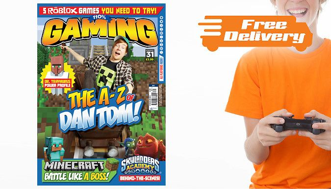 Buy 110% Gaming Magazine 5-Issue Subscription UK deal for just: £15.99 Get in the know with a 110% Gaming magazine 5-issue subscription      52 pages packed with all the latest gaming news and reviews      Featuring all your favourite gaming YouTubers like DanTDM and Stampy      Play like a pro with walk-throughs, Minecraft tips, FIFA hints and more      Covers all major platforms including...