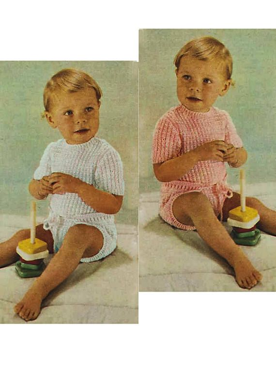 All-In-One Romper Onesie To fit 55cm 20 in chest knitting pattern can be found at Etsy shop called YarnPassionDesigns