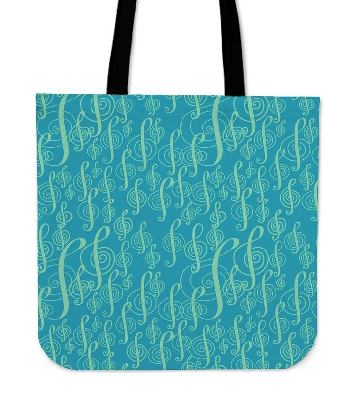 New in our shop! Turquoise Tote Bag Treble Clef http://oompah.shop/products/turquoise-tote-bag-treble-clef