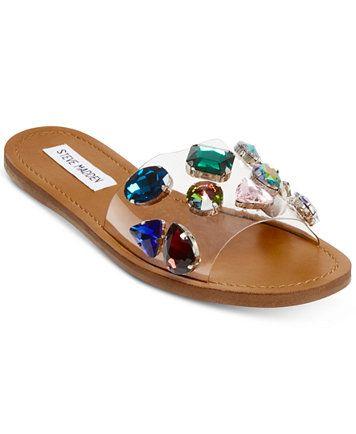50529d5ab8b8 Image 1 of Steve Madden Women s Rosalyn Slide Sandals