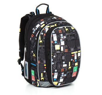 Plecak dla chłopca - model CHI 797 A - Black z komputerowym motywem. Informatycy przyszłością narodu :)