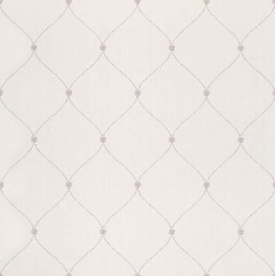 Vlies-Tapete-Rasch-Lazy-Sunday-450736-Creme-Rosa-Perlenkette-Landhaus-Struktur