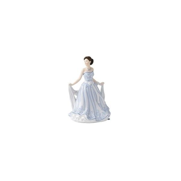 Royal Doulton Pretty Ladies Petite Gillian Figurine ❤ liked on Polyvore featuring home, home decor, royal doulton, lady figurines and royal doulton figurines