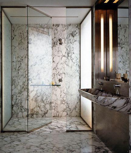 Calvin Tsao Zack McKown, SoHo Loft 1999, New York, NY | curbless shower