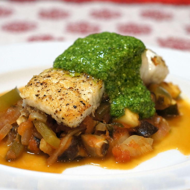 Paleo Halibut with Vegetables