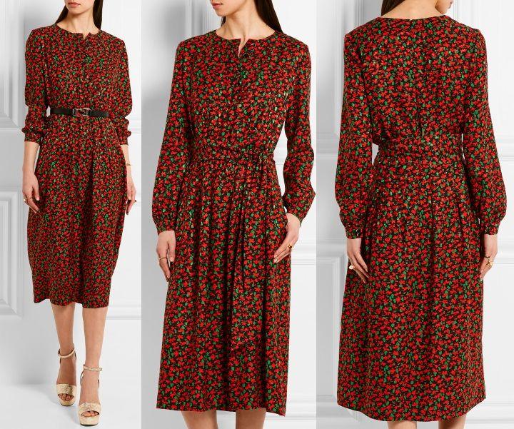 Cai Floral-Print Jacquard Dress by Vanessa Seward