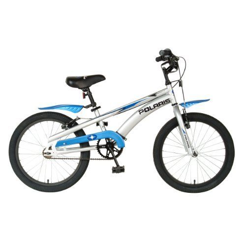 """Polaris Edge LX20 Kids 20-Inch Bike by Polaris. $129.00. Amazon.com                An ideal bike for kids who are transitioning from children's bikes to adult bikes, the Polaris Edge LX20 is safe, reliable, and tough. The bike is outfitted with a sturdy """"T"""" frame and 20-inch pneumatic tires that hold up to heavy use. The front linear pull brakes, meanwhile, teach kids how to safely stop using a hand brake, with a front & rear hand brake adding further stopping co..."""
