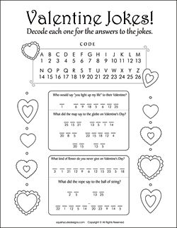 ... Printable Activities, Valentine Printables, Valentine Riddles