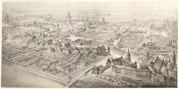 Panorama SocWarszawy - autor. Henryk Dąbrowski przed 1956