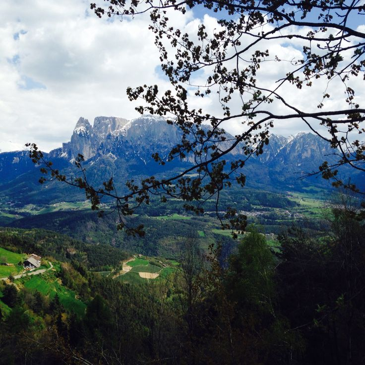 The beautiful mountains surrounding Bolzano, Italy