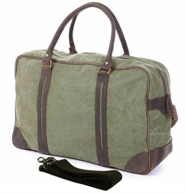 Vintage military Canvas Leather men travel bags Large luggage bags Men duffel bags weekend Bags Overnight sac de voyage big tote