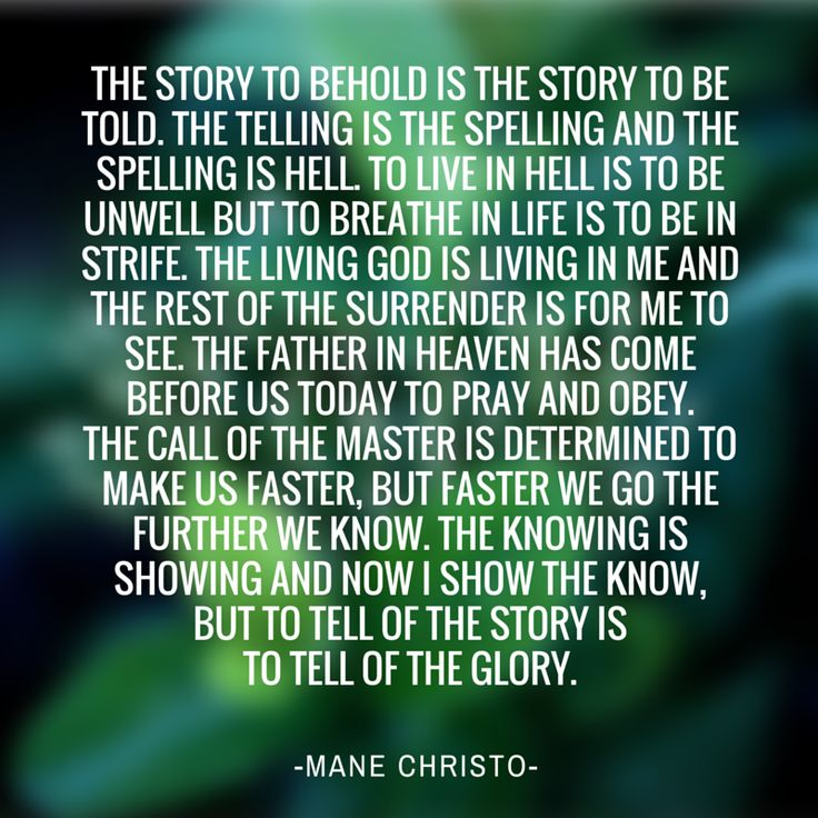 manechristo: The Story To Betold Is The Story To Behold.
