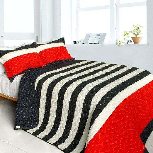 Sahara S Story 3pc Vermicelli Quilted Patchwork Quilt