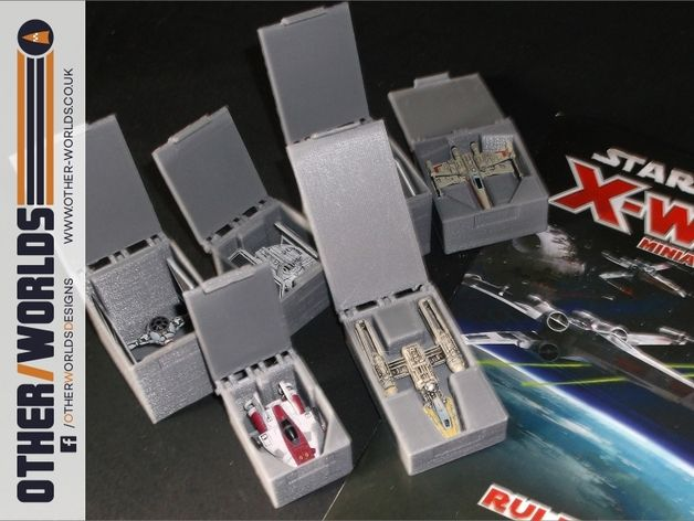 X-Wing Miniatures game ship boxes by DrMoribus - Thingiverse