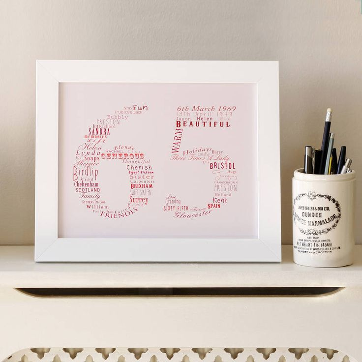 Bespoke Number Typography from notonthehighstreet.com