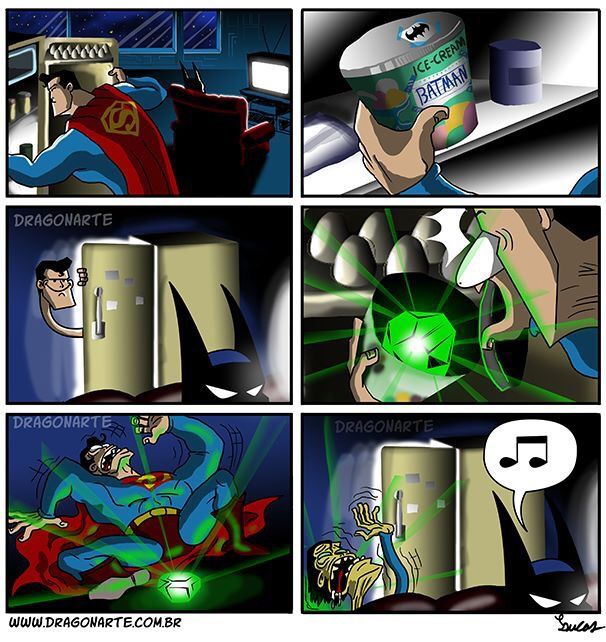 Superman dies into a skeleton after feeling the Surpreme power of kryptose rays