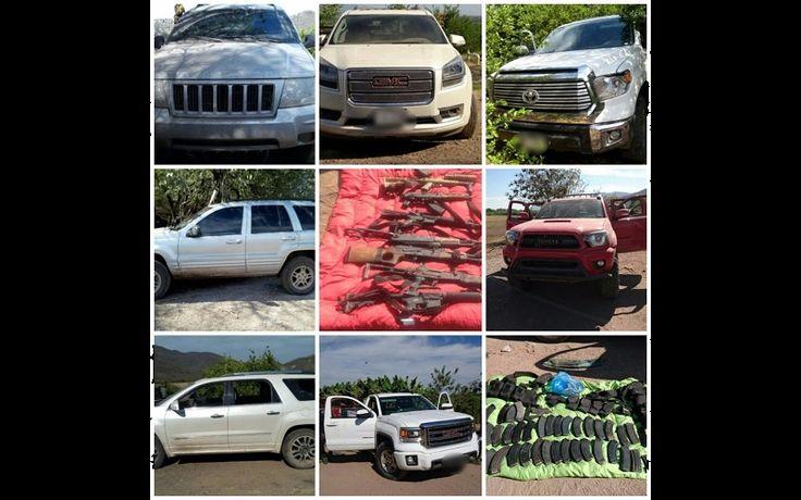 Tras los hechos, la Sedena y la SSP implementaron un operativo y lograron el aseguramiento de nueve vehículos –tres de ellos con reporte de robo- y siete armas con un ...