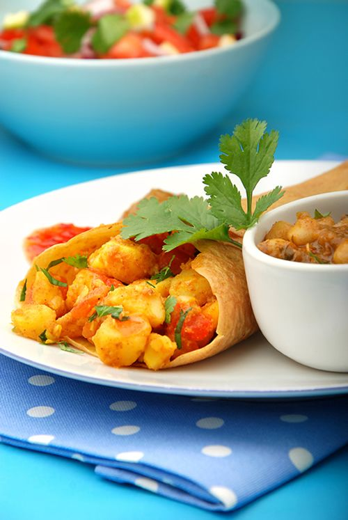 Bombay Dosa with Chickpea Sauce