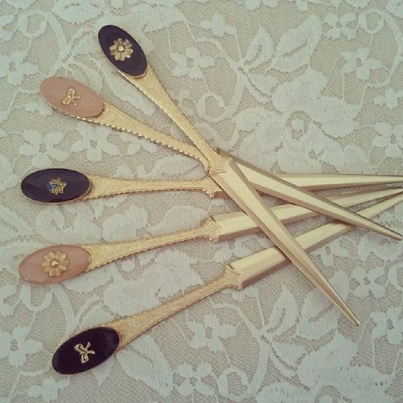 vintage letter opener flower heart gold letter knife wedding gift new office gift keepsake bridesmaids gift gift for mom