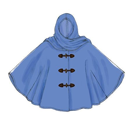 A Learn to Sew For Fun pattern for beginning sewers from McCall's. Cozy poncho with hood and scarf varations. M7202, Misses' Ponchos