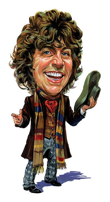Too cute.  Painting of #4, Tom Baker.4Th Doctors, Tom Bakers, The Doctors, Doctors Prints, Art Prints, Fine Art, Doctors Who, Science Fiction, Dr. Who